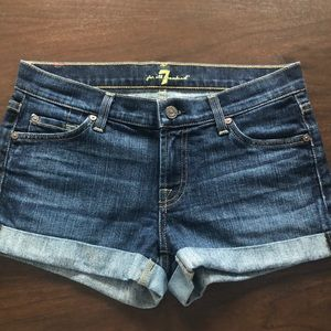 7 for all Mankind roll-up shorts